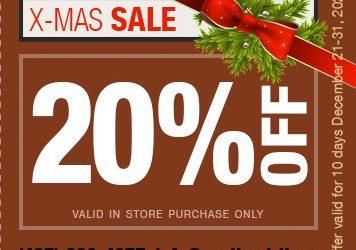20% X-Mas SALE!!!